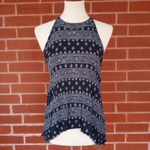 Blue Rain- Woman's Halter Tank Top